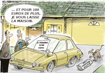 La voiture en perte de vitesse